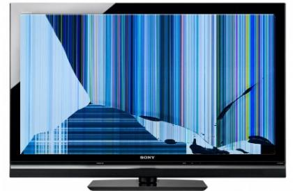 Broken Sony LCD TV screen