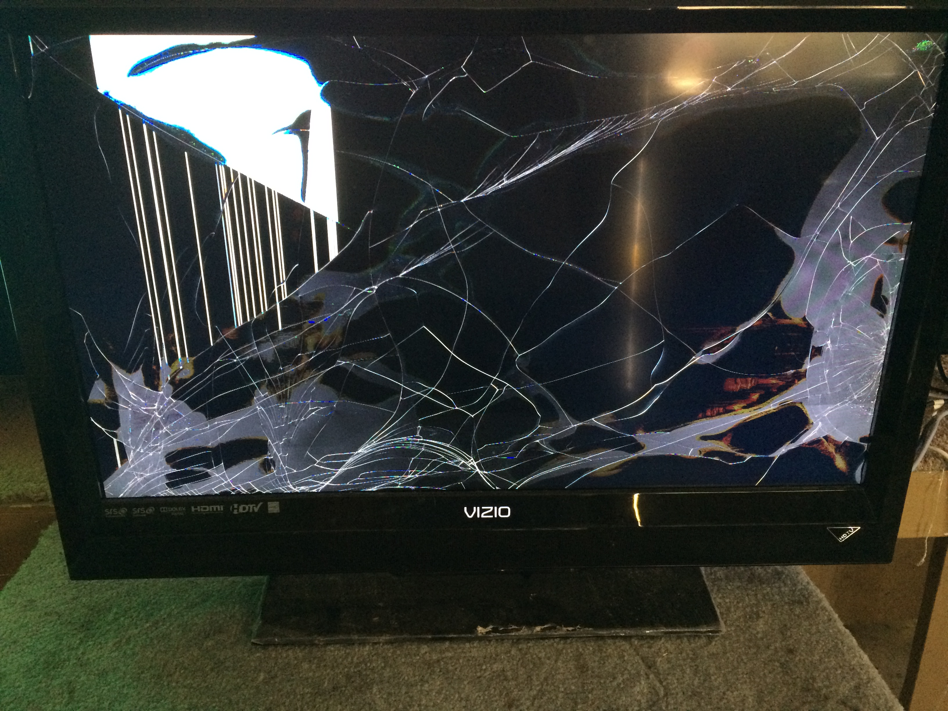 Image result for broken tv lcd